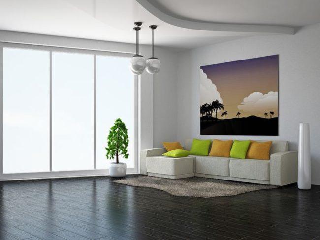 18545663 - livingroom with sofa near the wall