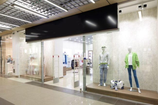 28393792 - bright and fashionable window of modern european store