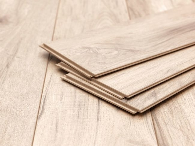 50504716 - a studio photo of timber laminate flooring