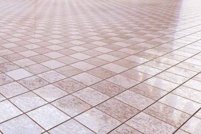 36664913 - 3d rendering of a bath tiles floor