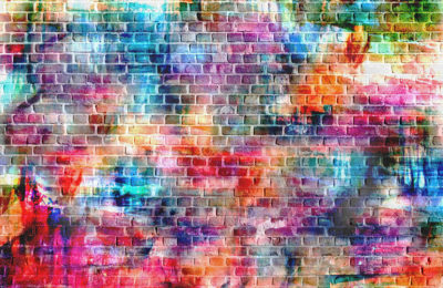 51690958 - colorful wall painting art, inspirational background image.
